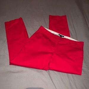 Tommy Hilfiger red ankle length straight leg jeans